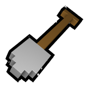 Pixel spade for game