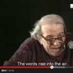 "Deleuze giving a lecture ""the words rise into air"